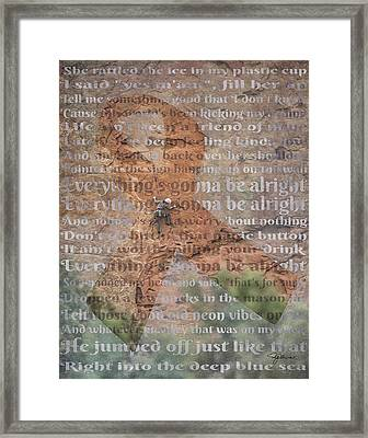11059 Everything Will Be Alright Framed Print