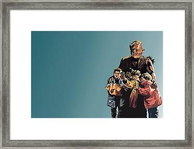 112. Never Say Die Framed Print by Tam Hazlewood