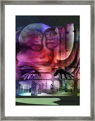 1141 - Lurking ... Framed Print