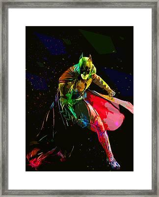 Batman Framed Print by Elena Kosvincheva