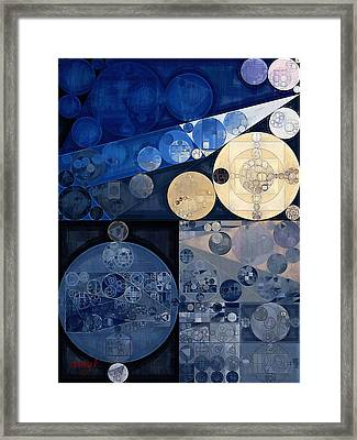 Abstract Painting - Oxford Blue Framed Print