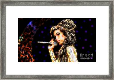 Amy Winehouse Collection Framed Print by Marvin Blaine