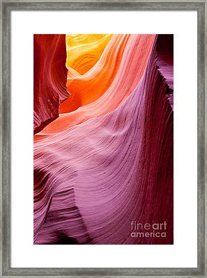 Antelope Canyon Framed Print by Sabino Parente