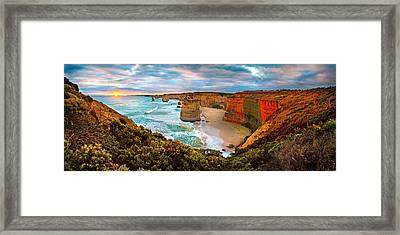 12 Apostle Sunset Framed Print by Az Jackson