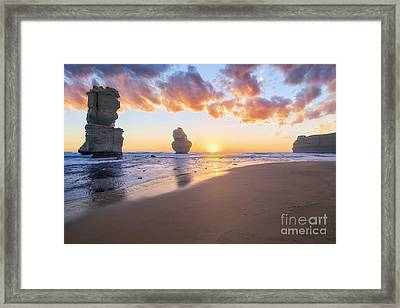 12 Apostles With Marshmallow Skies Framed Print by Ray Warren