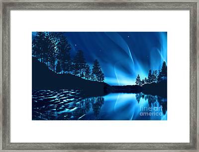 Framed Print featuring the photograph Aurora Borealis by Setsiri Silapasuwanchai