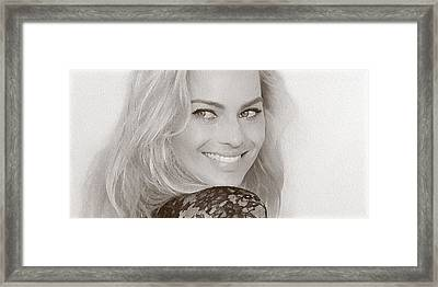 Beautiful Actress Margot Robbie Framed Print by Best Actors
