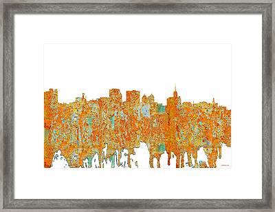 Buffalo New York Skyline Framed Print