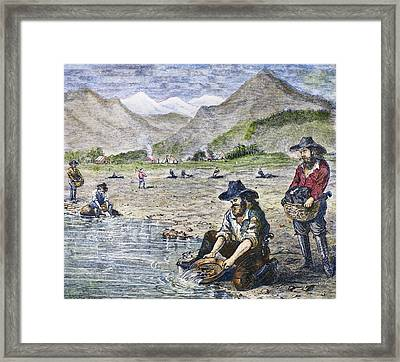 California Gold Rush Framed Print by Granger