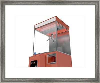 Claw Arcade Game Framed Print by Allan Swart