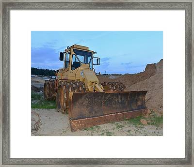 12 - Construction Equipment Series Framed Print by Matt Plyler