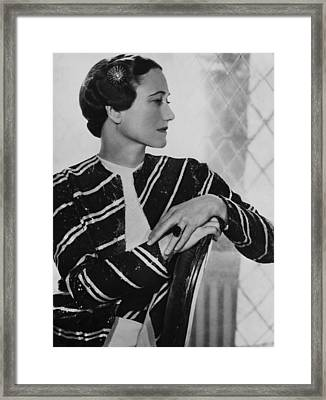 Duchess Of Windsor Wallis Simpson Framed Print by Everett