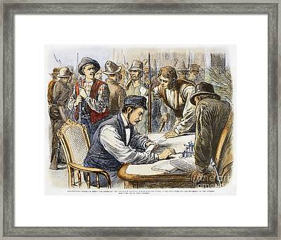 Great Railroad Strike, 1877 Framed Print by Granger