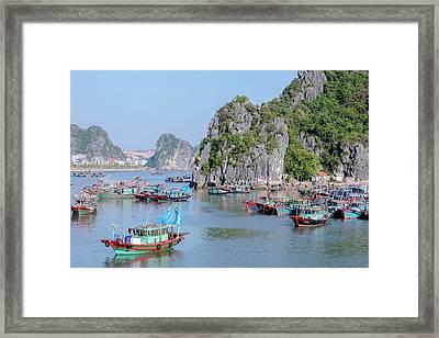 Halong Bay - Vietnam Framed Print by Joana Kruse
