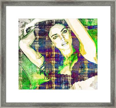 Irina Shayk Framed Print by Svelby Art