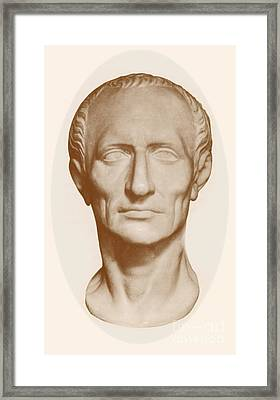 Julius Caesar, Roman General Framed Print by Photo Researchers