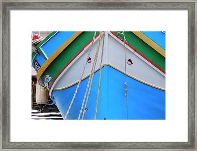 Luzzu - Malta Framed Print by Joana Kruse