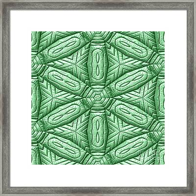 Mayan Ornaments Framed Print by Miroslav Nemecek