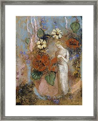 Pandora Framed Print by Odilon Redon