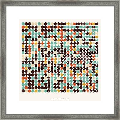 Pi Approximate Packing Of Circles Framed Print