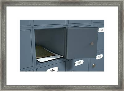 Post Office Boxes Framed Print