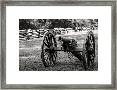 12 Pounder Napoleon Bw Framed Print
