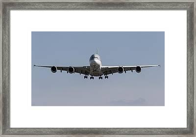 Qatar Airlines Airbus A380 Framed Print
