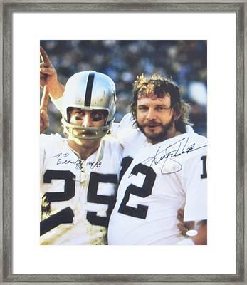 #12 Quarterback Kenny Stabler And #25 Wide Receiver Fred Biletnikoff Framed Print by Donna Wilson