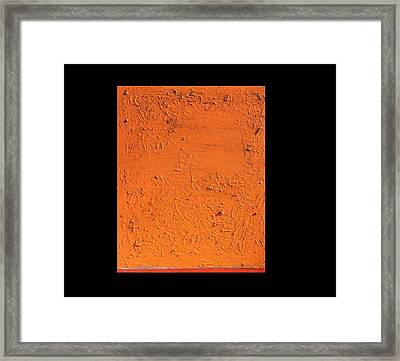Framed Print featuring the painting Orange No.11 16 X 20 2010 by Radoslaw Zipper