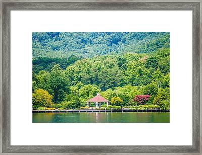 Scenery Around Lake Lure North Carolina Framed Print by Alex Grichenko