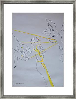 Slain In The Holy Spirit Framed Print