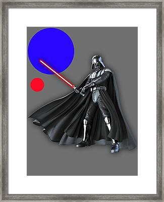 Star War Darth Vader Collection Framed Print by Marvin Blaine