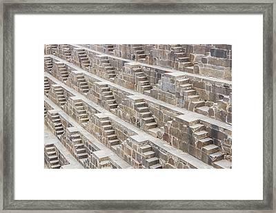 Steps At Chand Baori Framed Print