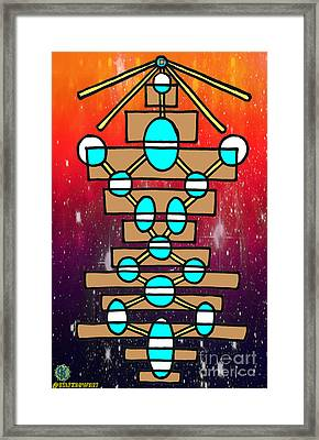 12 Steps Towards Love And Light Framed Print by Alexander Ladd