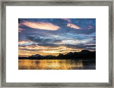 Sunrise Scenery In The Morning Framed Print