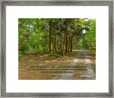12- The Road Not Taken Framed Print by Joseph Keane