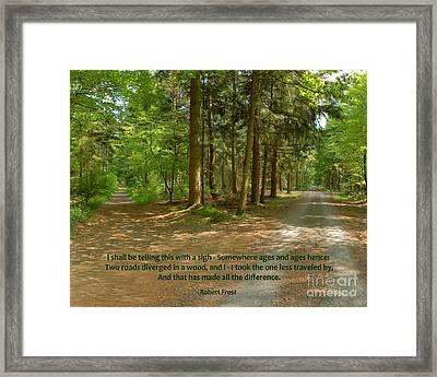 12- The Road Not Taken Framed Print
