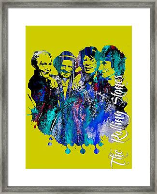 The Rolling Stones Collection Framed Print by Marvin Blaine