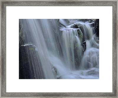 Waterfall Detail Framed Print by Stephen  Vecchiotti