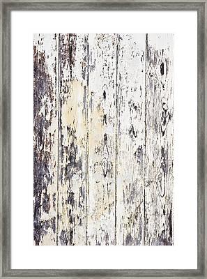 Weathered Wood Framed Print by Tom Gowanlock