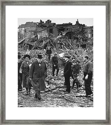 Winston Churchill Framed Print by Granger