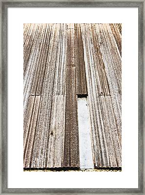 Wooden Panels Framed Print