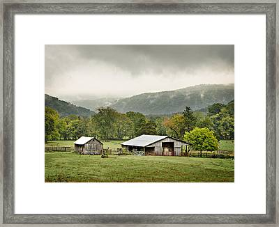 1209-1116 - Boxley Valley Barn Framed Print by Randy Forrester