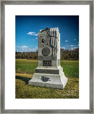 121st Pennsylvania Infantry Monument Framed Print