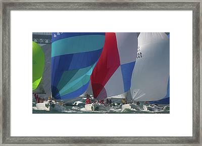 Bay Colors Framed Print by Steven Lapkin