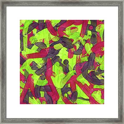 Untitled -a- Soup Framed Print by Coded Images