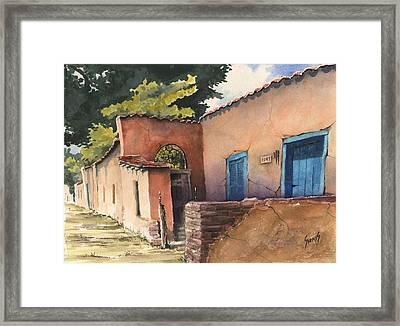 1247 Agua Fria Street Framed Print by Sam Sidders