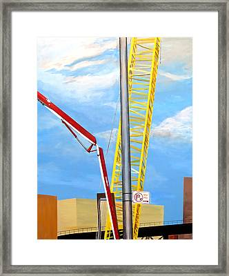 125th Street - No Parking Framed Print by Bonnie See