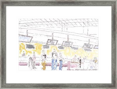 12.au.syd.airport.wc Framed Print