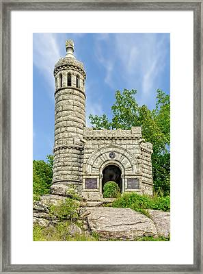 Framed Print featuring the photograph 12th And 44th New York Infantry Monument Gettysburg  -  12-44thnymonument122215 by Frank J Benz